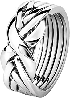 6BSL Sterling Silver Puzzle Ring