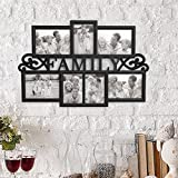 Lavish Home 80-COLL-3 Family Collage Picture Frame, Black