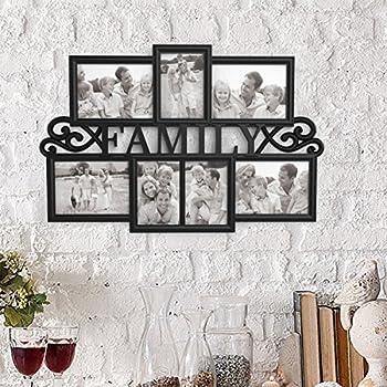 Lavish Home 80-COLL-3 Family Collage Picture Frame Black Matte