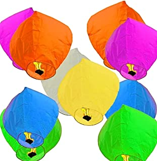 PRINT BHARAT® Sky Lanterns Multicolour Wishing Hot Air Balloon/Flying Night Sky Candle for Diwali/Marriage/Christmas/Birth...