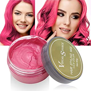 Mary Paxton Hair Dye Wax Color Styling One-time Temporary Hairstyle Cream Mud 2.82oz For Men Women Hair Molding Paste Pomade Disposable Gel Hairstyle For Party Cosplay Masquerade (Red)