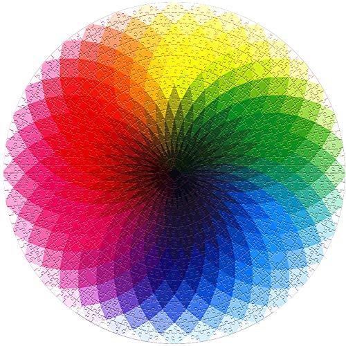 Rompecabezas Arcoiris 1000 Piezas, ZoneYan Puzzle Arcoiris Redondo, Rainbow Puzzle Jigsaw, Puzzle Circular Colores, Rompecabezas De Arco Iris Degradado, Rompecabezas Arco Iris Desafío