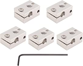 WINSINN 3D Printer Sensor Heater Block, Compatible with E3D V6 J-Head RepRap Bowden Hotend Extruder for HT-NTC100K PT100 - Aluminum (Pack of 5Pcs)