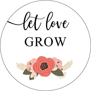Let Love Grow Stickers, Navy Blue and Blush Wedding, Let Love Grow Favor Stickers, Labels, Seed Favors, Love Grow, Favor Stickers, Flower, Floral, Garden Wedding Favor Stickers