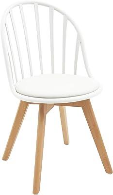 White loft LF676 Juego de 2 sillas de Color Blanco, Polipropileno, 46 x 57 x 85 cm