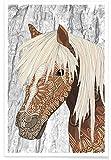 JUNIQE® Kinderzimmer & Kunst für Kinder Pferde Poster