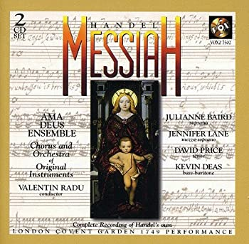 Handel - Messiah / Baird · Lane · Price · Deas · Ama Deus Ens · Radu