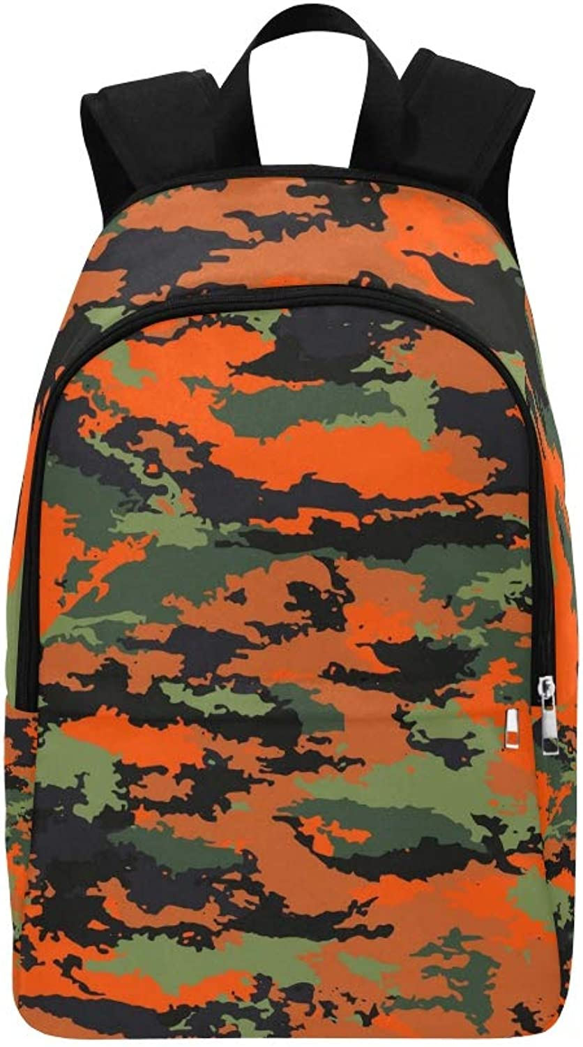 Camouflage Military Camouflage Bright Casual Daypack Travel Bag College School Backpack for Mens and Women
