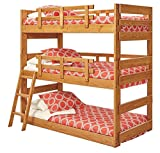Chelsea Home Twin Triple Bunk Bed in Honey
