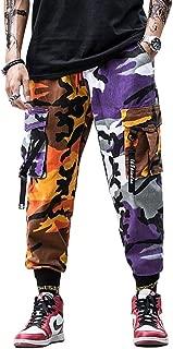 Orange Camouflage Joggers Streetwear Cargo Pants