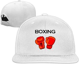 Red Boxing Gloves Plain Adjustable Snapback Hats Caps