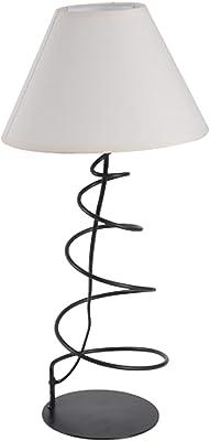 HOMEA 5LAP168 Lampe, Metal, 40 W, Blanc, DIAMETRE 22 H33CM