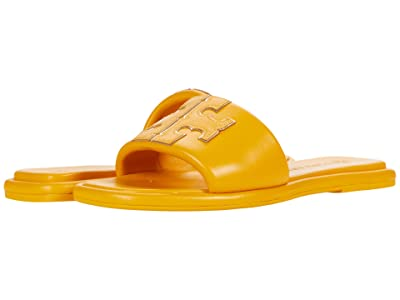 Tory Burch Double T Sport Slide (Yellow Mustard/Gold) Women