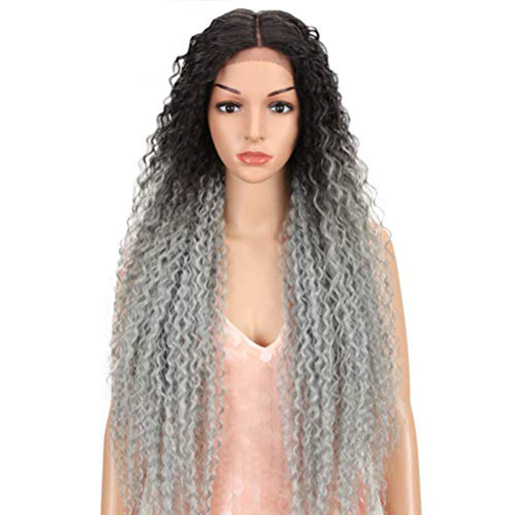 """Style Icon 38"""" Long Curly Wig famous Wigs Synthetic Max 63% OFF Lace wit Front"""