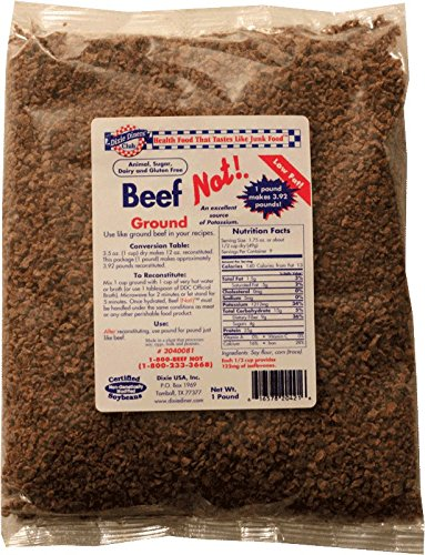 Dixie Diners' Club - Beef (Not!) Ground, 1 lb bag (Pack of 6)