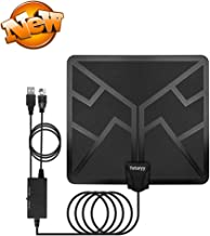 2019 Upgraded 120 Miles TV Antenna, HDTV Antenna Digital HD Indoor Antennas Amplifier Signal Booster 13.2FT Long Coaxial Cable Long Range Reception 4K 1080P Free Local Channels