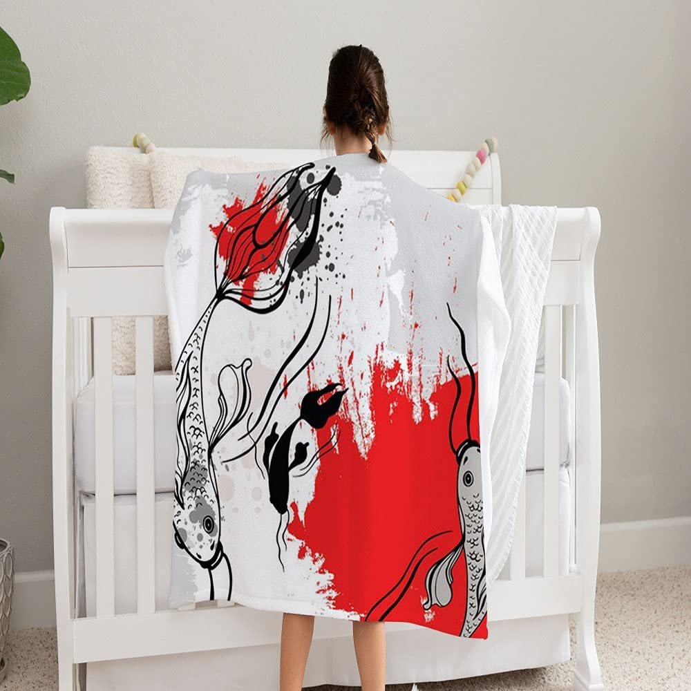 Max 44% OFF GANTEE Koi Fishes Max 84% OFF Super Soft and for Fleece Blanket Perfect Cozy