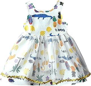 54f3c9ea6d441 Moneycom Enfant en Bas âge Bébé Filles Vêtements de Bande Dessinée Imprimer  Partie Princesse Robe Tulle