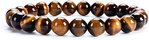 Cherry Tree Collection | Small, Medium, Large Sizes | Gemstone Beaded Stretch Bracelet | 8mm Round Beads