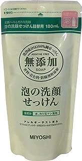 無添加 泡の洗顔せっけん 詰替用 180mL ×6個セット