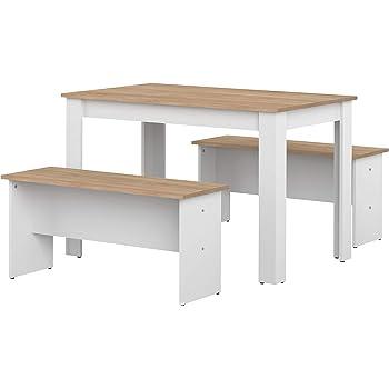 Milani Home s.r.l.s Tavolo da Pranzo Moderno di Design ALLUNGABILE CM 80 X 130//170//210 Struttura Bianca Piano Tortora per Sala da Pranzo Ristorante