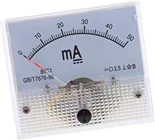 Liyafy AC 0-50mA Analog Current Panel Meter DC For Auto Circuit Or Other Voltage Measurement Devices Amperemeter Tester Gauge