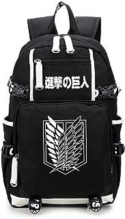 AUGYUESS Abanico de anime, regalo de anime, regalos de cosplay, mochila luminosa de anime Cosplay Attack On Titan FGHR-45634 mochila escolar.