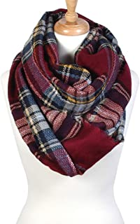 Scarfand's Plaid & Tartan Winter Infinity Scarf Wraps
