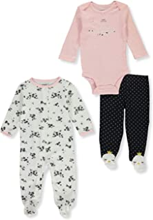 Carter's Baby Infant Swans 3-Piece Layette Set - Multi, 3 Months