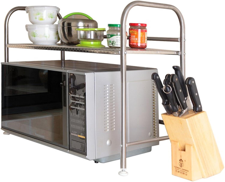 Kitchen Microwave Shelf Rack Creative Kitchen Finishing Storage Rack Storage Rack -by TIANTA (Size   Single Floor)
