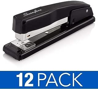 Swingline Stapler, Commercial Desktop Staplers, 20 Sheet Capacity, Black, 12 Pack (S7044401CS)