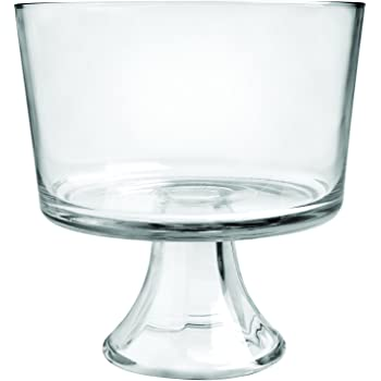 Anchor Hocking Presence Trifle Footed Dessert Bowl, Crystal clear glass -