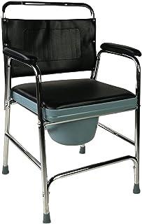 Mobiclinic, Velero, Silla con WC, solla orinal, silla inodoro para discapacitados, minusválidos, ancianos, plegable, reposabrazos, asiento ergonómico, conteras antideslizates