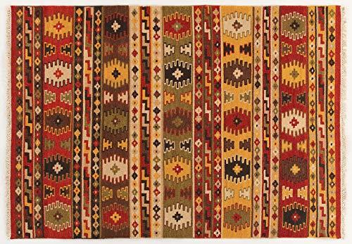 ABC Kilim Sivas 3 Tappeto, Rosso/Multicolore, 60x90