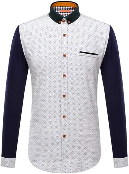 Yishelle Camisa de Hombre Camisa de Vestir de Corte Regular ...