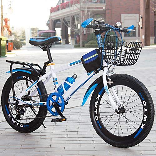 XWDQ Bicicleta De Montaña De 18 Pulgadas, 20 Pulgadas, 22 Pulgadas, 24 Pulgadas, Hombres Y Mujeres Estudiantes De Una Sola Velocidad