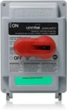 Leviton MS4X-403 40 Amp, 600 VAC, 3-Pole, Non-Fused Manual Motor Starter, Suitable as Motor Disconnect, Type 4X Thermoplastic Enclosure, IP67-Watertight