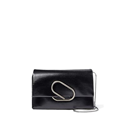 3.1 Phillip Lim Alix Soft Flap Clutch (Black) Clutch Handbags