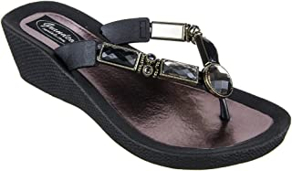 Best bamboo black wedges Reviews