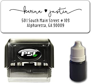 Custom Return Address Stamp, Self Inking - Bundle with Stamp, Extra Refill Ink and 100 Matching Adhesive Address Label Stickers