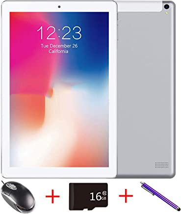 $79 » Mirzebo Android Tablet 10.1''Touchscreen Wi-Fi Tablet,1GB RAM, 16GB Storage, Bluetooth,GPS, USB, IPS Screen, Unlocked Tablet PC with Dual Sim Card Slots,Dual Camera,Mouse (Silver)
