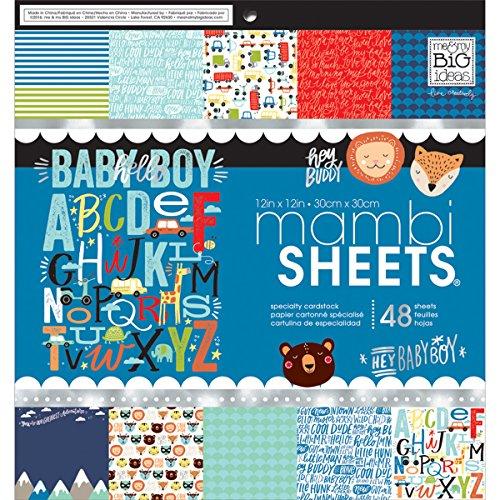 Me & My Big Ideas Cdstck 12x12 MAMBI Sheets Cdstk Pad Baby Boy Dreams