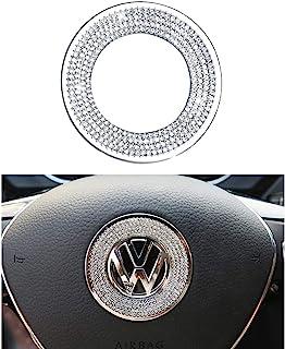 1797 Compatible Steering Wheel Logo Caps Decals Sticker for VW Volkswagen Accessories Parts Bling Jetta Passat Golf Tiguan...