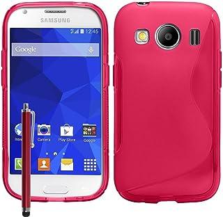 fc20e61feb6 VCOMP -Funda de silicona con diseño S-Line para Samsung Galaxy  Ace 4 Style LTE SM-G357FZ, compatible con Samsung Galaxy Ace 4 Samsung  Galaxy ...