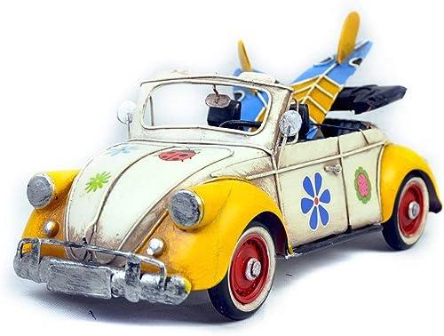 compra limitada Coches Coches Coches clásicos modelos artesanía decoración, accesorios de fotografía de hojalata de coches, simple Inicio perfecto retro Adorno, el mejor regalo para Niño (escarabajo)  venta caliente en línea