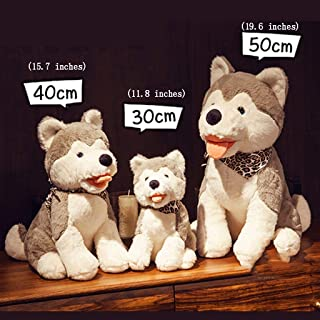 ZMDZA Plush Toys, Husky Dolls Filled,Children's Puppet (Size : 50cm)