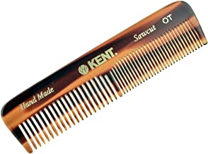 Kent Handmade Coarse and Fine Toothed Pocket Comb for Men, 11 cm