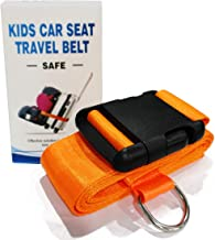 Car Seat Travel Belt to Suitcase,Car Seat Travel Strap to Convert Kid Car Seat and Carry-on Luggage to Airport Car Seat Stroller Carrier,Safe Travel Solution for Transport Car Seat (Orange)