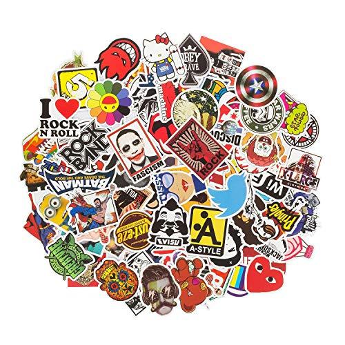 ANKENGS Aufkleber Pack [100-pcs] Graffiti Sticker, Vinyl Stickers, Zufälliger Aufkleber, Vervollkommnen Sie zu Den Laptops, Skateboards Fahrrad, Autos, Kinder, Motorrad, Gepäck, iPhone& Mehr
