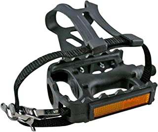 2pcs Bicycle Fixed Gear Cycling Pedals Bands Feet Set With Straps Pedals B RSDE